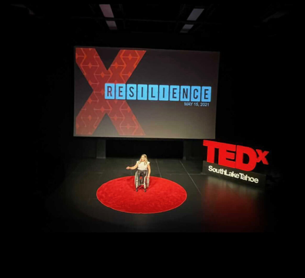 alycia on the stage at tedx